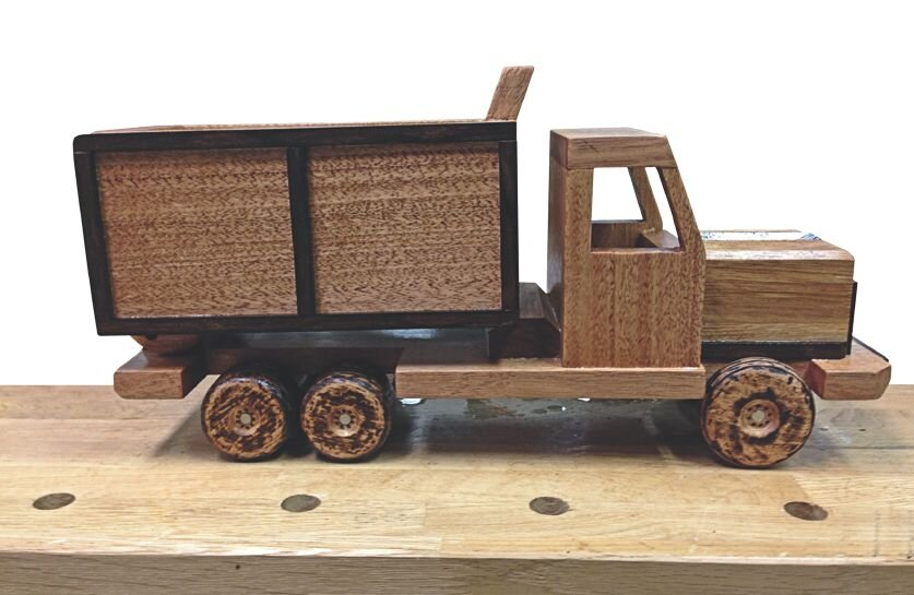 Completed truck with an oiled finish