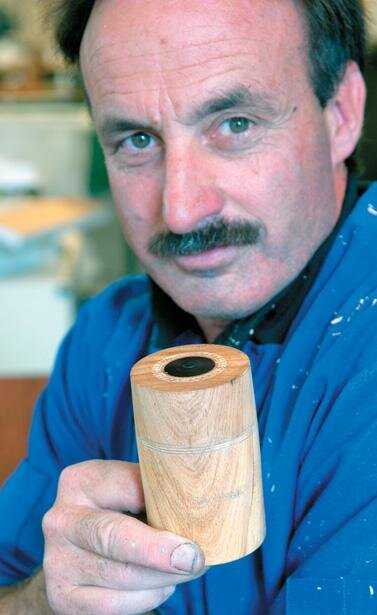 Terry Scott and his completed lidded box